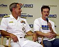 US Navy 050823-N-5862D-131 Commander, Navy Recruiting Command, Rear Adm. Jeffrey Fowler and Navy NASCAR driver.jpg