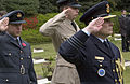 US Navy 060425-N-9851B-003 Guests salute as Last Post is sounded by a bugler during a wreath laying ceremony in honor of Australia New Zealand Army Corps (ANZAC) Day.jpg