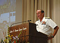 US Navy 060829-N-7032L-001 Commander, Naval Meteorology and Oceanography Command Rear Adm. Timothy McGee, speaks at the Anniversary Observance of Hurricane Katrina at the Stennis Space Center.jpg