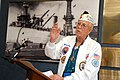 US Navy 061206-N-4965F-015 USS Oklahoma survivor James Bounds tells the story of how he and his shipmates were rescued,.jpg