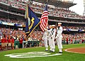 US Navy 080627-N-6914S-022 The Navy Ceremonial Honor Guard present the colors at the Washington Nationals baseball game.jpg