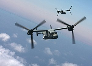 22nd Marine Expeditionary Unit - Ospreys assigned to Marine Medium Tiltrotor Squadron (VMM) 263 (Reinforced) from the 22nd MEU, fly over the Egyptian coastline during Exercise Bright Star 2009