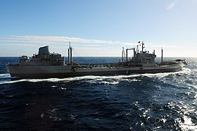 US Navy 100616-N-9301W-030 The Chilean replenishment ship CNS Araucano (AO 53) transits the Pacific Ocean.jpg