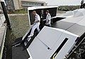 US Navy 110411-N-PO203-042 Rear Adm. Nevin P. Carr, Chief of Naval Research, completes a tour of the Piranha unmanned surface vehicle at the 2011 S.jpg