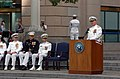 US Navy 110603-N-KV696-185 Chief of Naval Operations (CNO) Adm. Gary Roughead delivers remarks during a wreath laying ceremony at the Navy Memorial.jpg
