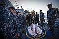 US Navy 110624-N-UH963-052 Dr. Jill Biden, wife of Vice President Joe Biden, and Secretary of the Navy (SECNAV) the Honorable Ray Mabus greet Sail.jpg