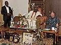 US Navy 110808-N-XK513-050 Rear Adm. Kenneth J. Norton visits with His Royal Majesty Alaiyeluwa Oba Riliwanu Babatunde Osuolale Arema Akiolu I, Oba.jpg