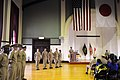 US Navy 110916-N-WW409-013 Cmdr. Brian Mutty delivers remarks during a chief petty officer pinning ceremony.jpg