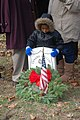 US Navy 111210-N-PK884-002 The youngest member of the Ratcliff family, Jaylen, stands over the grave of his ancestor, Sgt Maj. Edward Ratcliff, the.jpg
