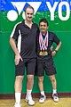 US Senior International Badminton Tourney (Miami) - MD50 Bronze Medal Match - Colin & Pedro def Jose & Soni 15 & 18 (16462237148).jpg