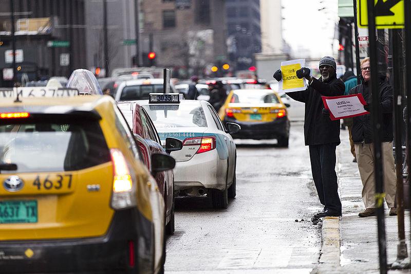 Andar de táxi de Chicago