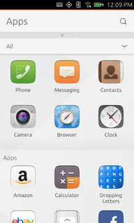 Ubuntu Touch mobile interface for Ubuntu developed by Canonical Ltd.