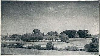 Rolighedsvej - Rolighed seen from Gammel Kongevej in 1850