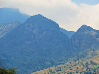 Morogoro - Uluguru Mountains in the background of Morogoro city.