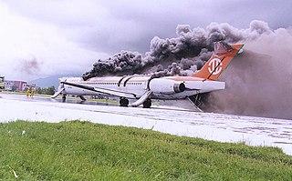 Uni Air Flight 873 1999 Taiwanese flight that suffered an explosion after landing