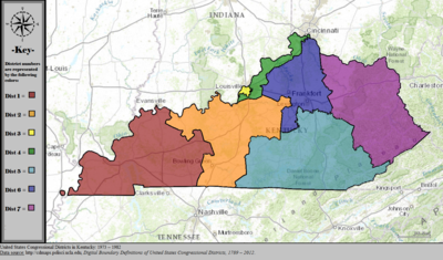 Kentuckys Congressional Districts Wikipedia - Us State Legislature Map