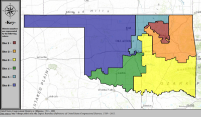 United States Congressional Districts in Oklahoma, 1983 – 1992.tif
