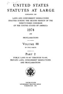 United States Statutes at Large Volume 88 Part 2.djvu
