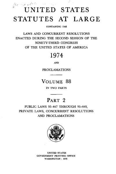 File:United States Statutes at Large Volume 88 Part 2.djvu