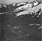 Unnamed glacier, hanging glacier with some bergschrund on the upper sections, September 3, 1977 (GLACIERS 6540).jpg