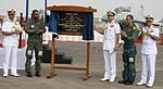 Unveiling of plaque marking the de-induction of Sea Harriers and induction of MiG 29Ks in INAS 300 at INS Hansa, Goa.jpg