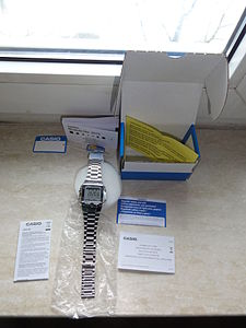 Unwrapping a 2012 Casio DB-360N-1AEF wrist watch.JPG