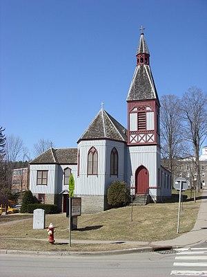 Franklin, Delaware County, New York - Upjohn Church in Franklin