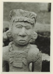 Carved sculpture, ancient work, from Chichen Itza, Mexico