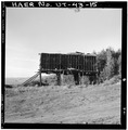 VIEW OF LARGE TIMBER FRAMED HOPPER, LOOKING NORTH - Jones Mine, Scofield, Carbon County, UT HAER UTAH,4-SCOF,1-15.tif