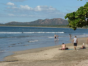 Tamarindo, Costa Rica - View of Tamarindo Beach.
