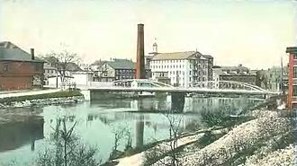 Valley Falls Company - Valley Falls, Cumberland side, 1906