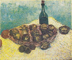 Still Life: Bottle, Lemons and Oranges
