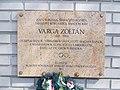 Varga Zoltán Sportplatz, Plaque, 2021 Nagyzugló.jpg