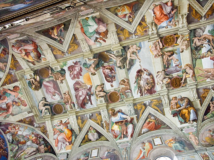 Michelangelo wikip dia a enciclop dia livre for Creation of adam mural