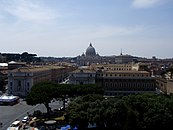 Vatican City view from Castel Sant'Angelo.JPG