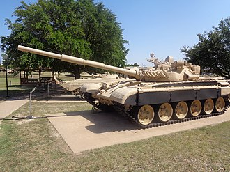Lion of Babylon (tank) - A captured Iraqi T-72 on display at Fort Hood