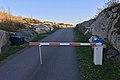 Verdens ende, Tjøme, Norway. Færder National Park (besøkssenter, visitors' centre). Asfaltert vei, veibom, svaberg i granitt. Sunset. 2018-09-12 A.jpg