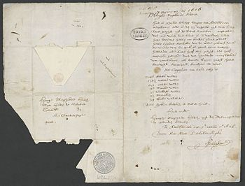 Schagen letter announcing the purchase of Manhattan Island to the Dutch West India Company