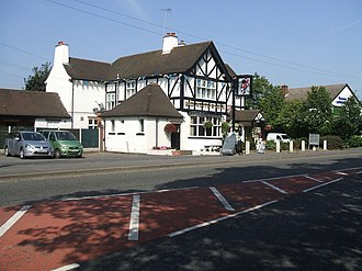 Featherstone, Staffordshire - Image: Very Patriotic 'Red White and Blue' Public House geograph.org.uk 236636