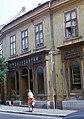 Veszprém 1975, Rákóczi Ferenc utca 8., beszélgetők - Fortepan 57325.jpg