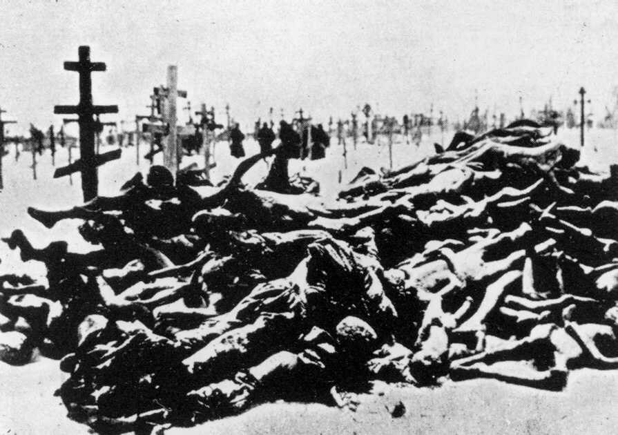 Victims of the 1921 famine in Russia
