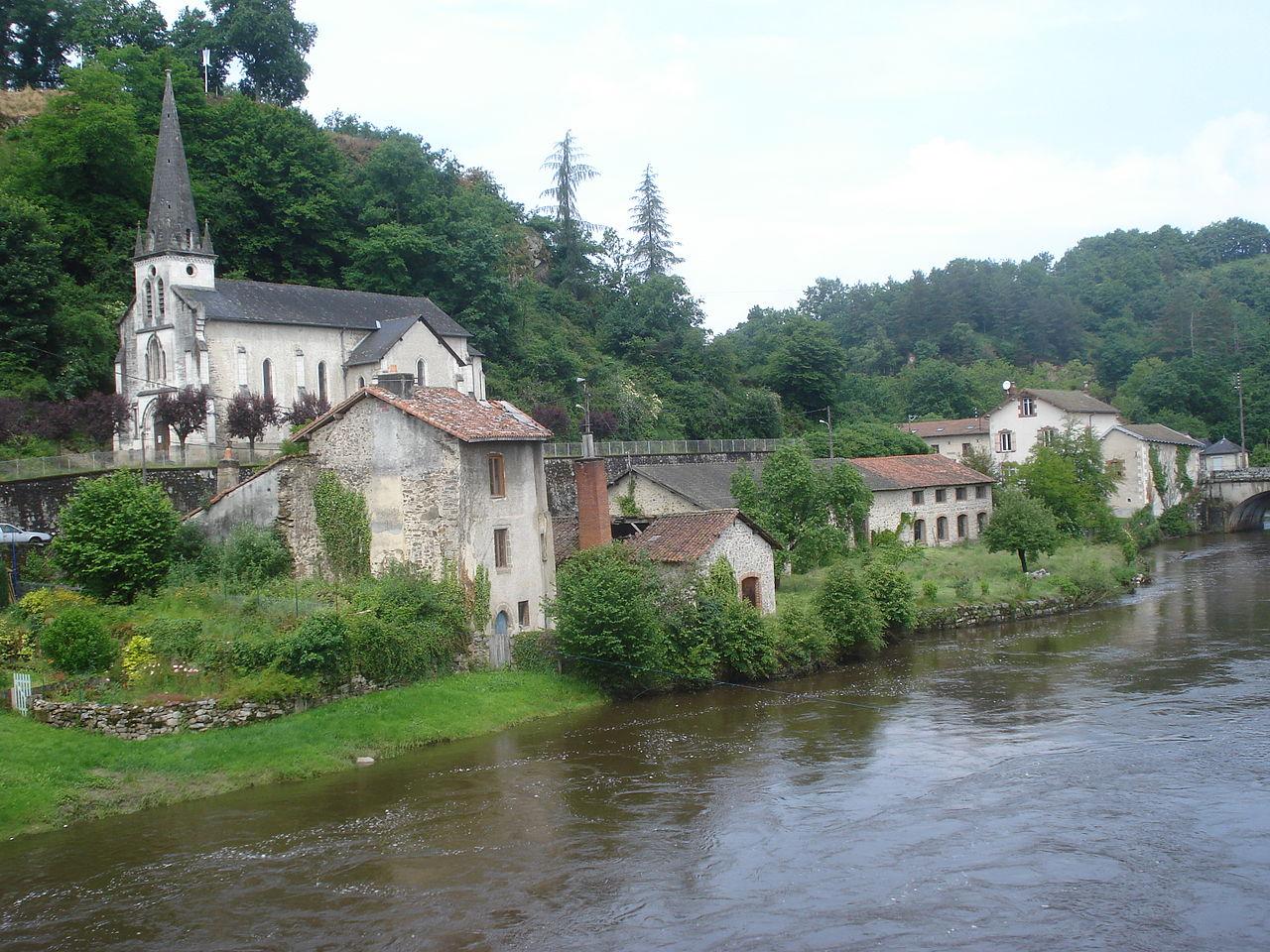 Fichier vienne river and church pont de noblat haute for Haute vienne
