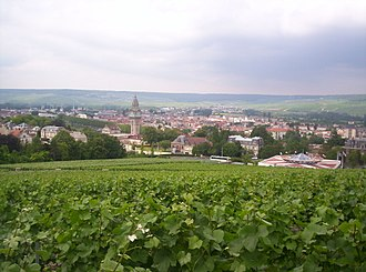 Marne - Image: View of Épernay from Mont Bernon