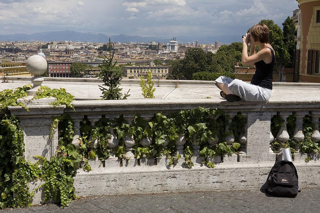 Vue depuis le parc du Janicule à Rome - Photo de Jorge Royan