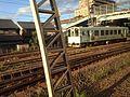 View of train of Tarumi Railway from train of Tokaido Main Line.JPG