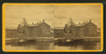 View of unidentified industrial buildings on a river, from Robert N. Dennis collection of stereoscopic views 2.png