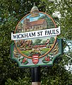Village sign, Wickham St Paul - geograph.org.uk - 1463693.jpg