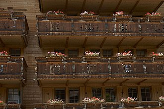 Ollon - balconies in Villars-sur-Ollon