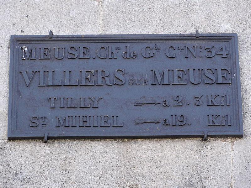 Villers-sur-Meuse (Meuse) plaque de cocher
