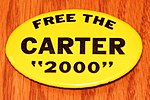 Vintage Political Pinback-Button - Free The Carter 2000, 1980 Ted Kennedy Presidential Campaign Button, Measures 2.75 Inches Wide (40647286833).jpg